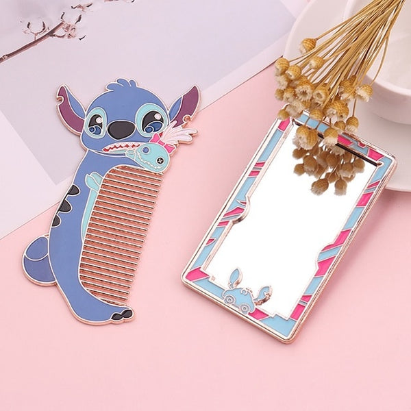 Cutie Stitch Mirror & Comb - Lilo & Stitch's Stitch is available as two way-too-cute accessories for everyday use! An anti-static hair comb and pocket mirror.