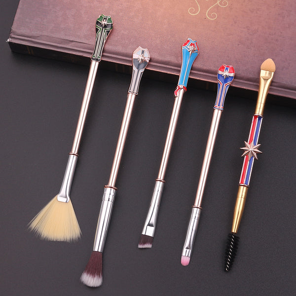 Justice League Superheroes Brush Set -  Inspired by the Justice League, this superhero-themed makeup brush set is a must-have for any comic book fan!