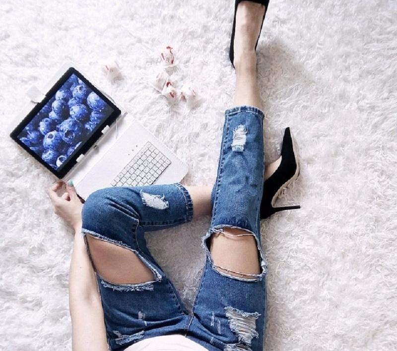 Olivia Ripped Jeans, Pants - Bijou Blossoms
