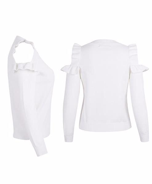 Chéri Cold-Shoulder Blouse, Blouse - Bijou Blossoms