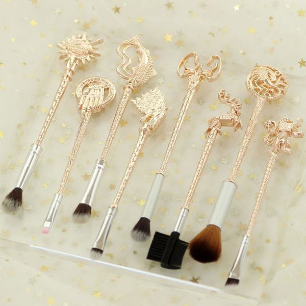 Game of Thrones Brush Set ❀ Rose Gold, Makeup Tools - Bijou Blossoms