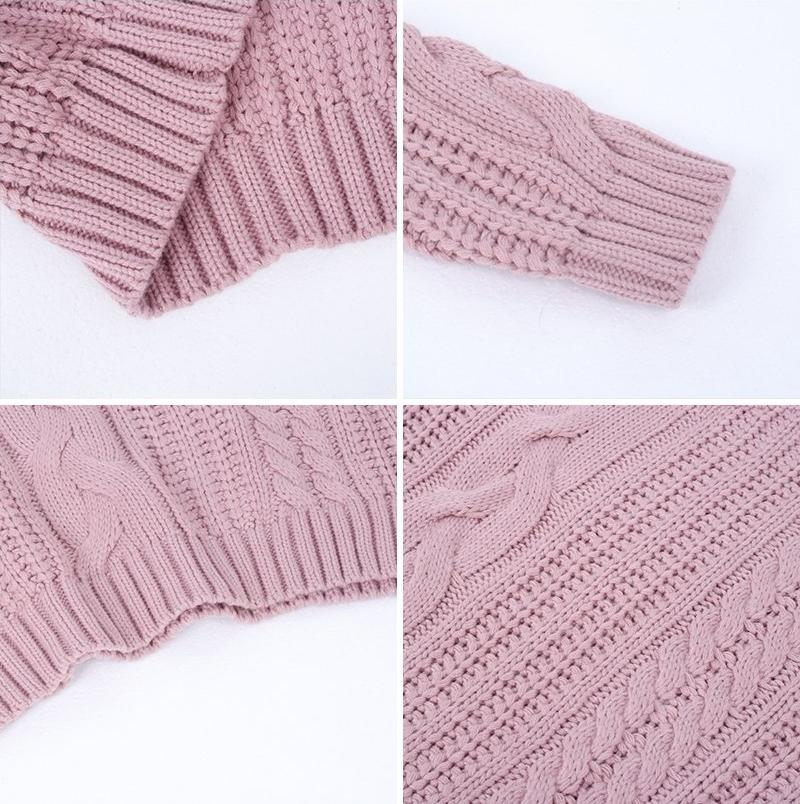 Pierretta Pink Pastel Pullover Knit Chunky Sweater | Bijou Blossoms | Cute Fashion