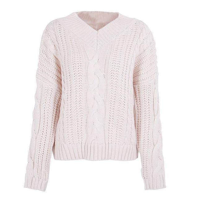 Pierretta Cream Pullover Knit Chunky Sweater | Bijou Blossoms | Cute Fashion