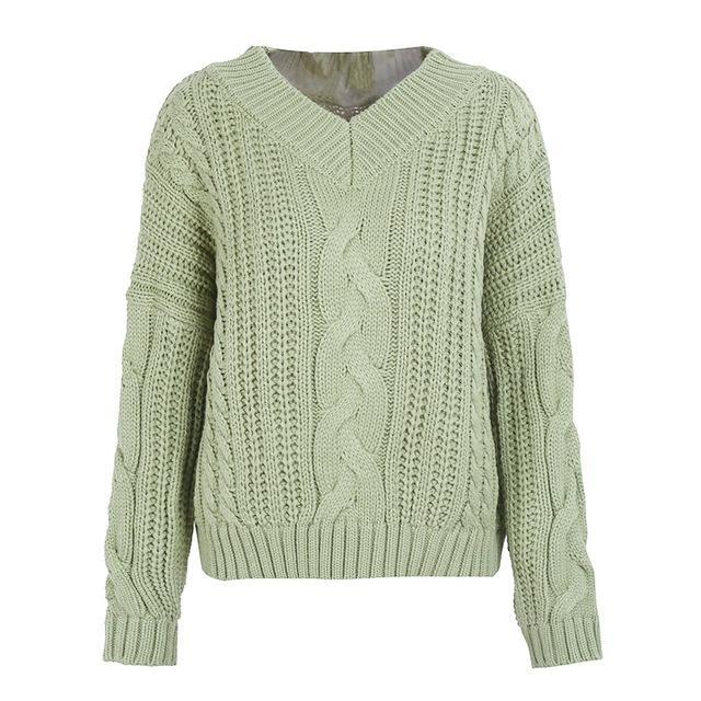 Pierretta Pastel Green Pullover Knit Chunky Sweater | Bijou Blossoms | Cute Fashion