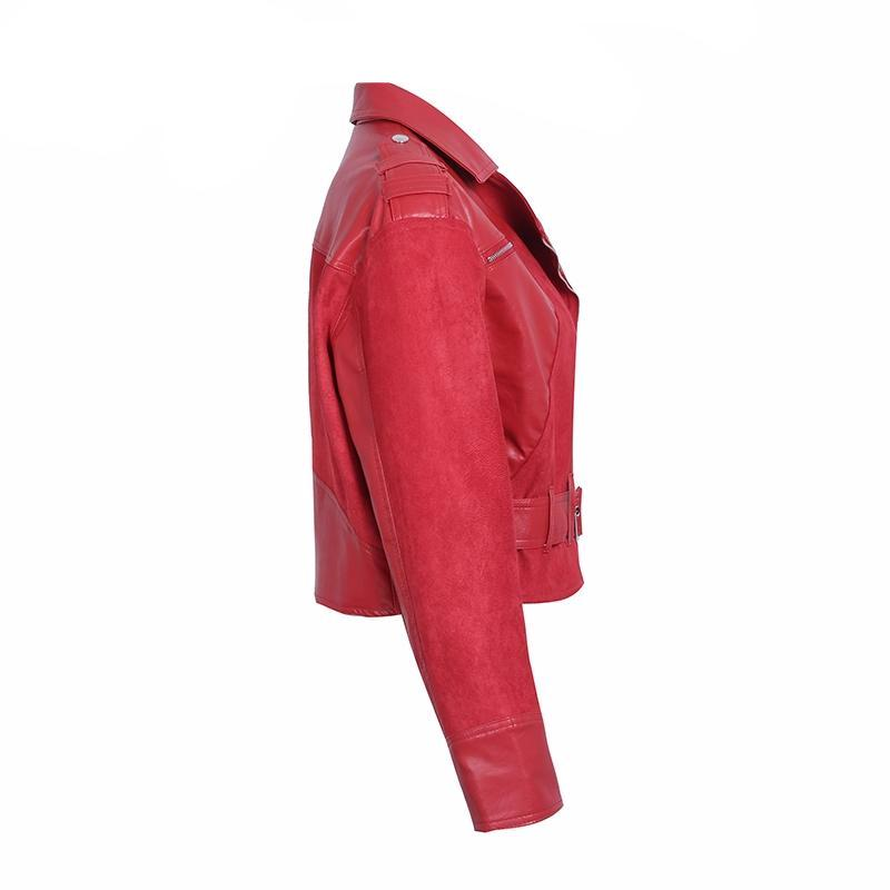 Fern Red Faux Leather Jacket | Bohemian Fashion Clothing Boutique | Bijou Blossoms