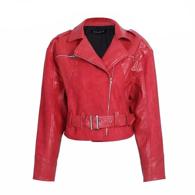 Fern Red Faux Leather Jacket | Buy Bohemian Fashion Clothing Boutique | Bijou Blossoms