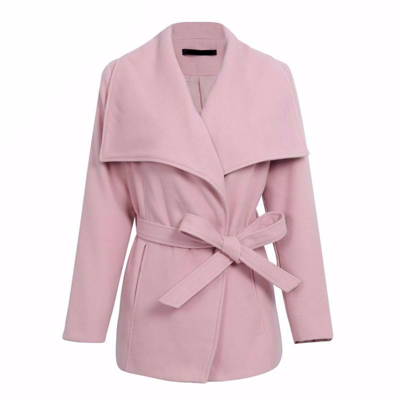 Nalani Pink Turn-Down Collar Wrap Jacket | Trendy Chic Fashion Clothing Boutique | Bijou Blossoms