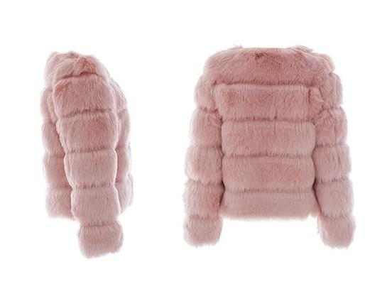 Abergine Pink Faux Fur Coat | Trendy Fashion Outerwear | Bijou Blossoms