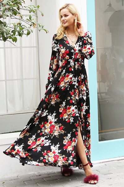 Robin Print Gown, Dress - Bijou Blossoms