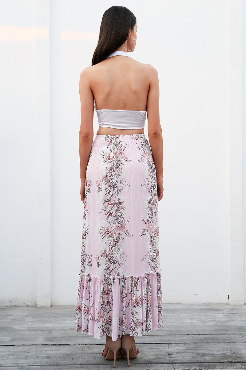 Moonblossom Floral Print Mermaid Maxi Skirt | Beautiful Bohemian Fashion Clothing for the Free Spirited | Bijou Blossoms