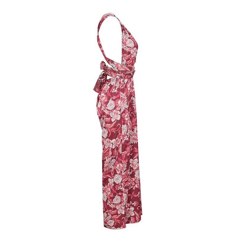 Ciprian Floral Print Jumpsuit | Bohemian Fashion Clothing Boutique | Bijou Blossoms