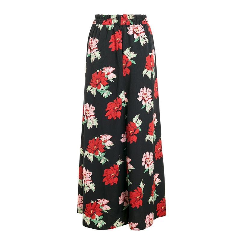 Summer Love Print Maxi Skirt - Red Flower | Cute Bohemian Fashion Clothing for the Sweet & Free Spirited | Bijou Blossoms