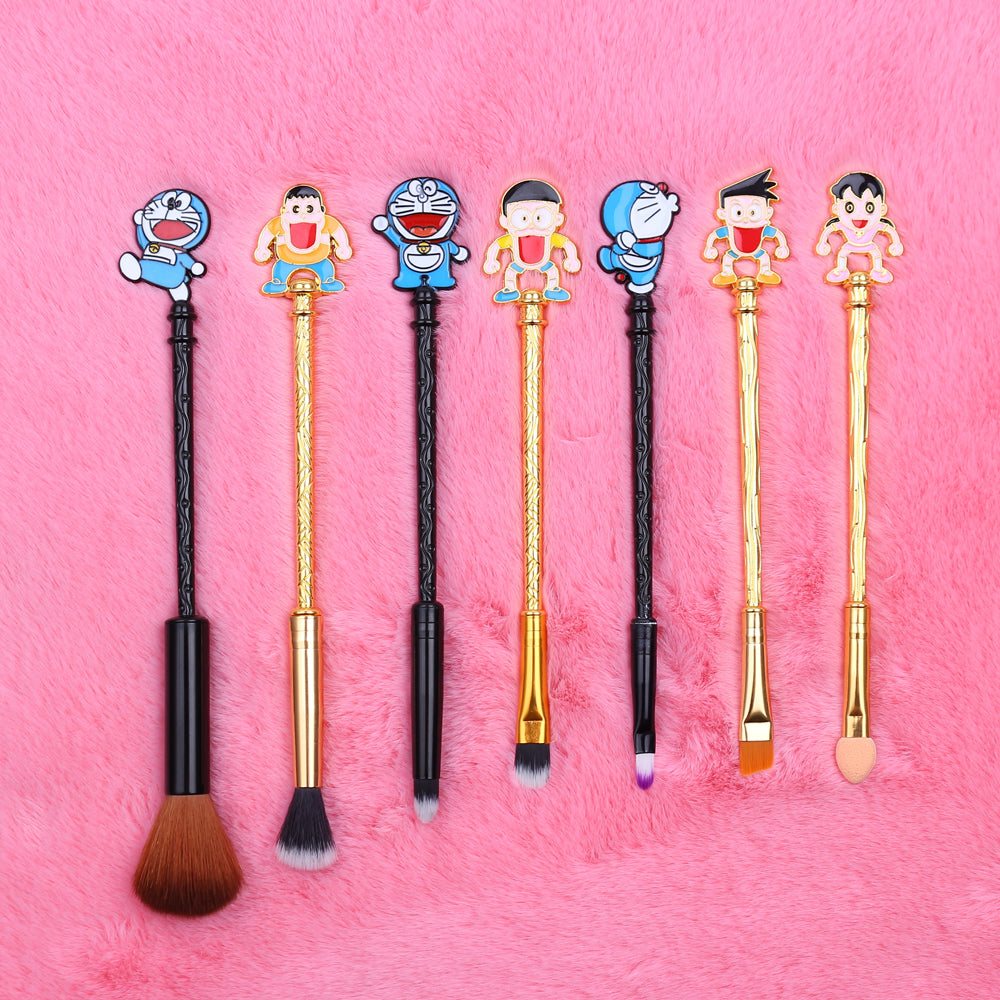 Doraemon Makeup Brush Set | Kawaii Beauty Tools | Bijou Blossoms
