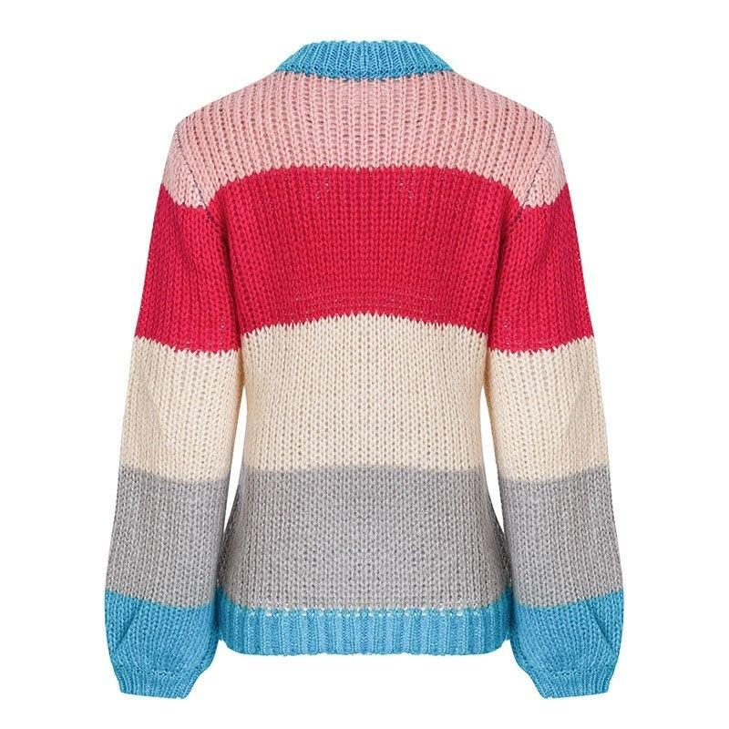 Brite Colorblock Stripe Sweater | Cute Boho Fashion Clothing | Bijou Blossoms