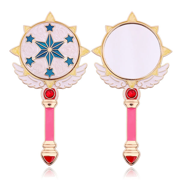 Cardcaptor Sakura Star Mirror, Makeup Tool - Bijou Blossoms | This adorable hand mirror is a great accessory for Cardcaptor Sakura fans, with a design inspired by Sakura's magic staff!