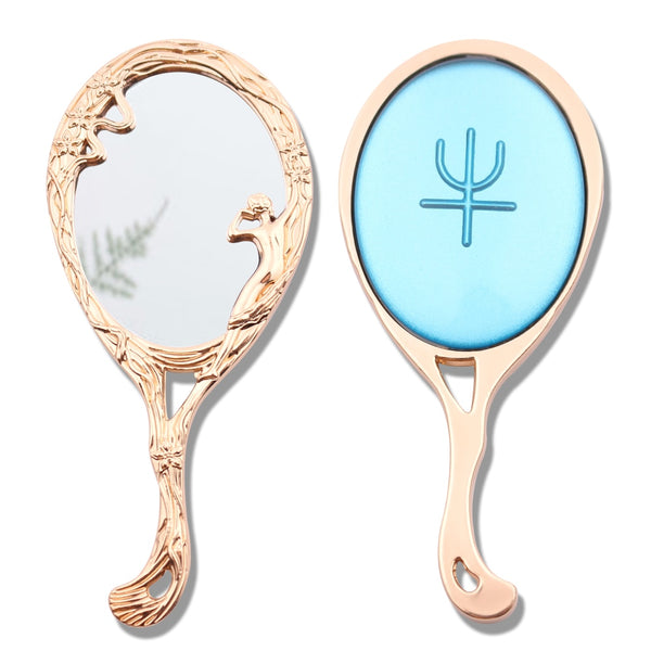 Sailor Neptune Deep Aqua Mini Mirror, Makeup Tool - Bijou Blossoms | This Sailor Moon themed mirror is inspired by the elegant Sailor Neptune's magical artifact mirror.