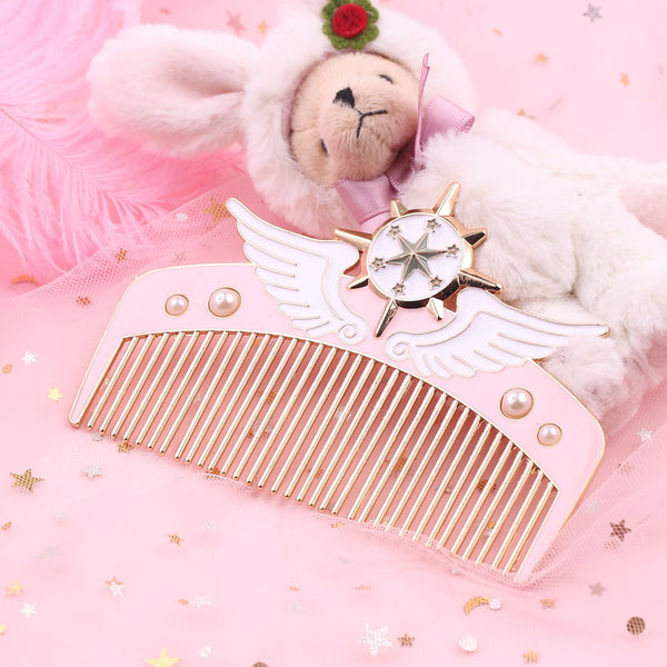 Cardcaptor Sakura Staff Hair Comb - Sakura Kinomoto's powerful magical girl star wand is now available as a fun hair comb accessory!
