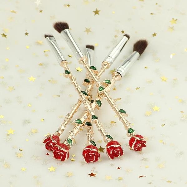Eternal Rose Brush Set ❀ Rose Gold, Makeup Tools - Bijou Blossoms