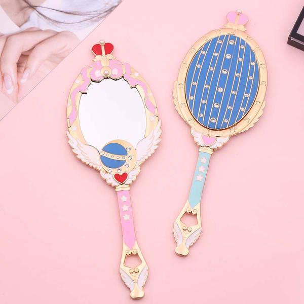 Sailor Moon Cutie Moon Rod Hand Mirror | Kawaii Beauty Tools | Bijou Blossoms
