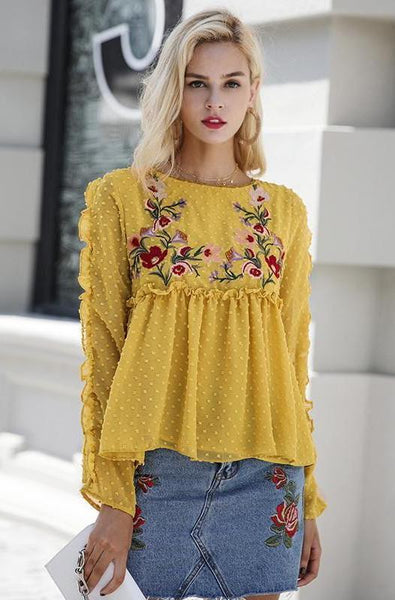 Tamara Embroidered Blouse