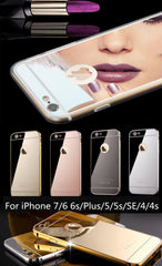Mirrored cell phone case for iphones