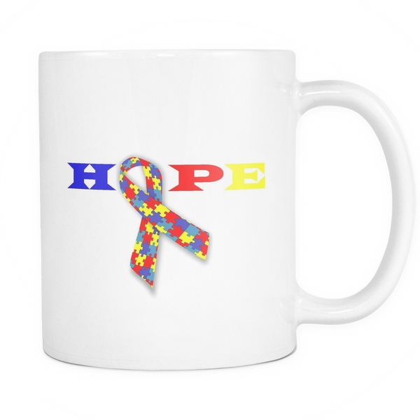 HOPE with Autistic Ribbon