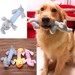Dog chew toy with squeaker