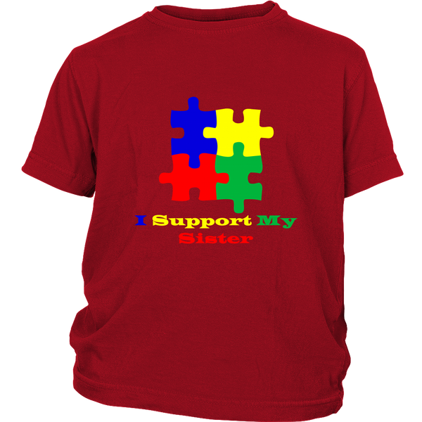 Kids I Support My Sister T Shirt