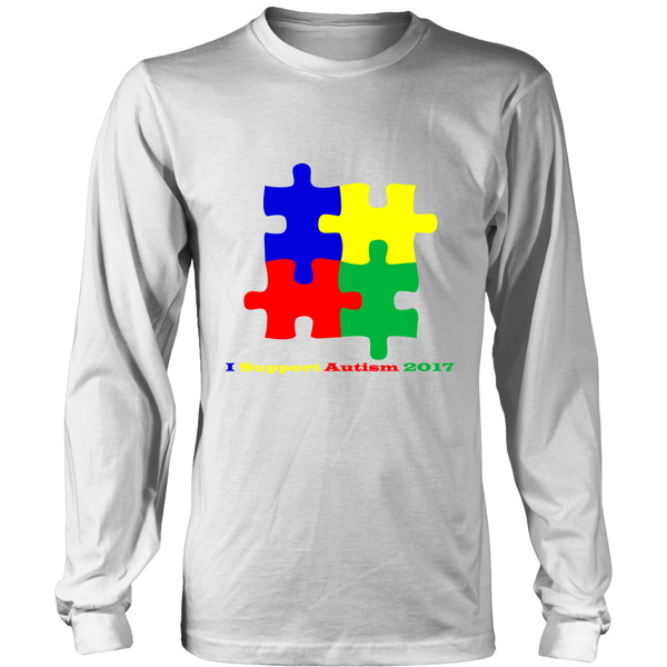 Mens I Support Autism 2017 - T Shirt - Long Sleeve - Hoodie