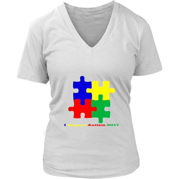 Womens I Support Autism 2017 - T Shirt - Tank - Long Sleeve - Hoodie