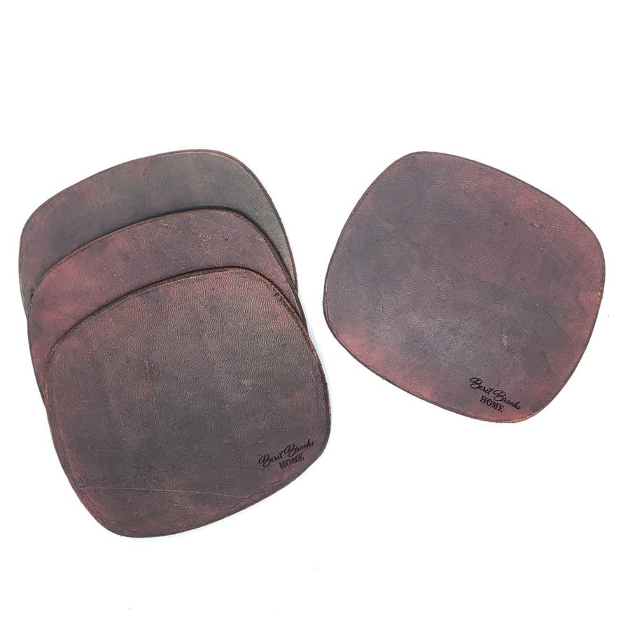 Luxe Leather Tabletop Coasters