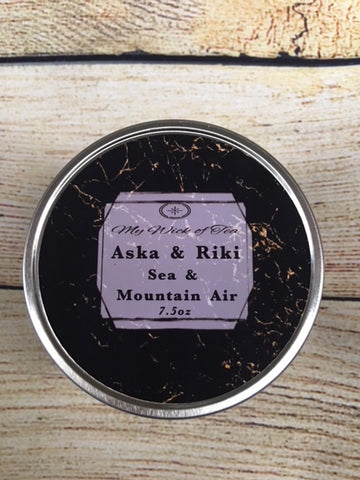 Aska and Riki- Sky in the Deep Inspired candle