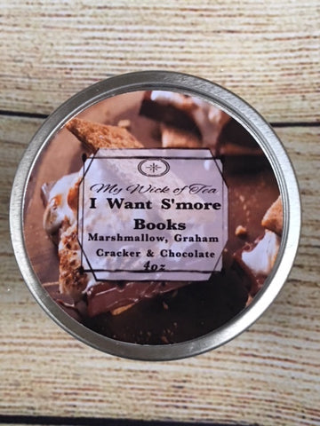 I Want S'more books-Fall Collection candle