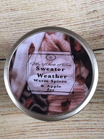 Sweater Weather-Fall Collection candle