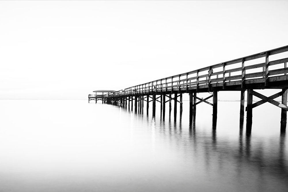 Safety Harbor Black and White Pier