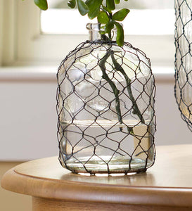 DIY crafts with chicken wire, metal mesh and decorative sheeting