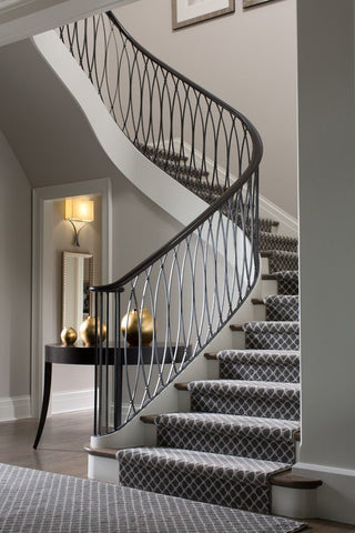 Curved Railing, Metal, Ornate, Wrought Iron Handrail