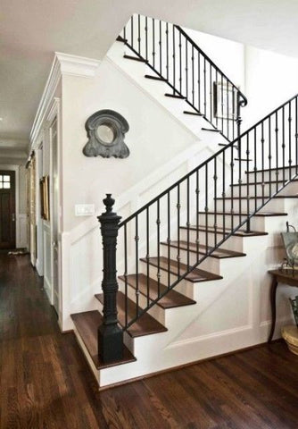 Heavy Lantern Style Newel Post, Handrail