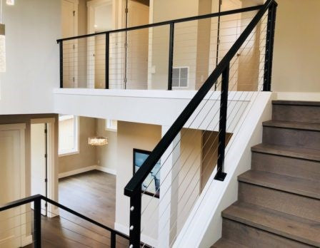 Modern Glass or Cable Handrail, Railing
