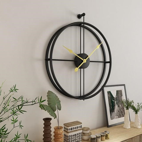 Metal and Brass Wall Clock
