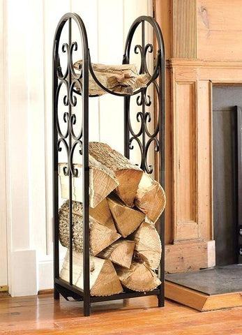 Decorative Wrought Iron Firewood Holder