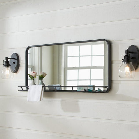 Metal Modern Rustic Wall Mirror