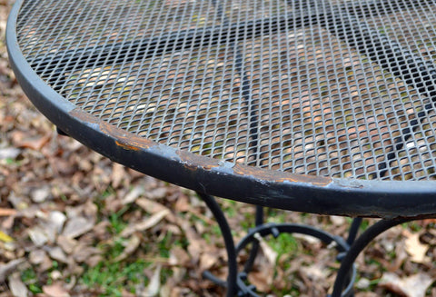 Restoring Wrought Iron Metal Table