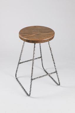 Handmade Bar stool, Wood and Metal