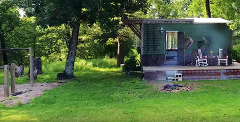 Green Rustic Tiny House
