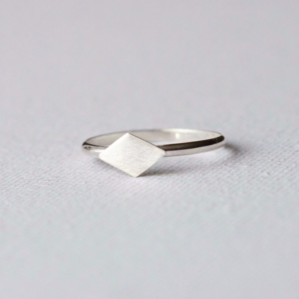 Thin Sterling Silver Geometric Ring