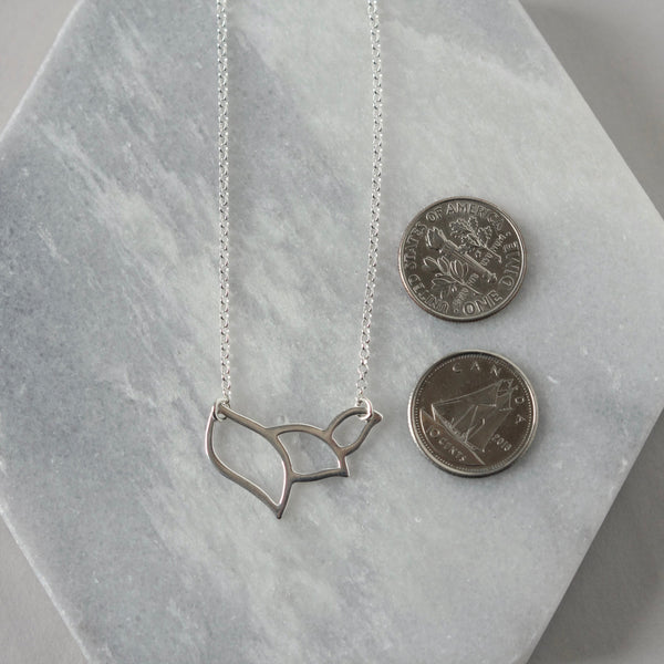 Sterling Silver Modern Leaf Necklace