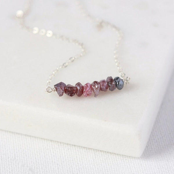 Mystic Spinel Sterling Silver Nugget Necklace