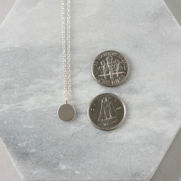 Sterling Silver Disc Necklace