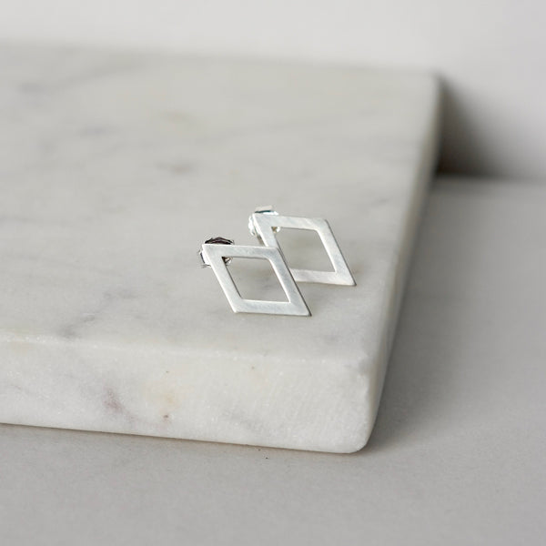 Sterling Silver Geometric Stud Earrings